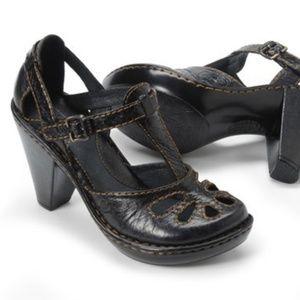 Born Charisma Nero Black Platform Shoes Sz 7.5